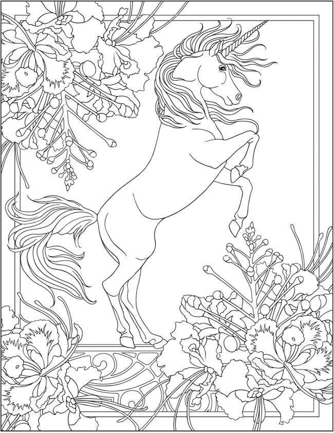 - Welcome To Dover Publications; Creative Haven Unicorns Coloring Book  ♣️Fosterginger.Pinterest.Com🌑M… Unicorn Coloring Pages, Coloring Pages,  Horse Coloring Pages