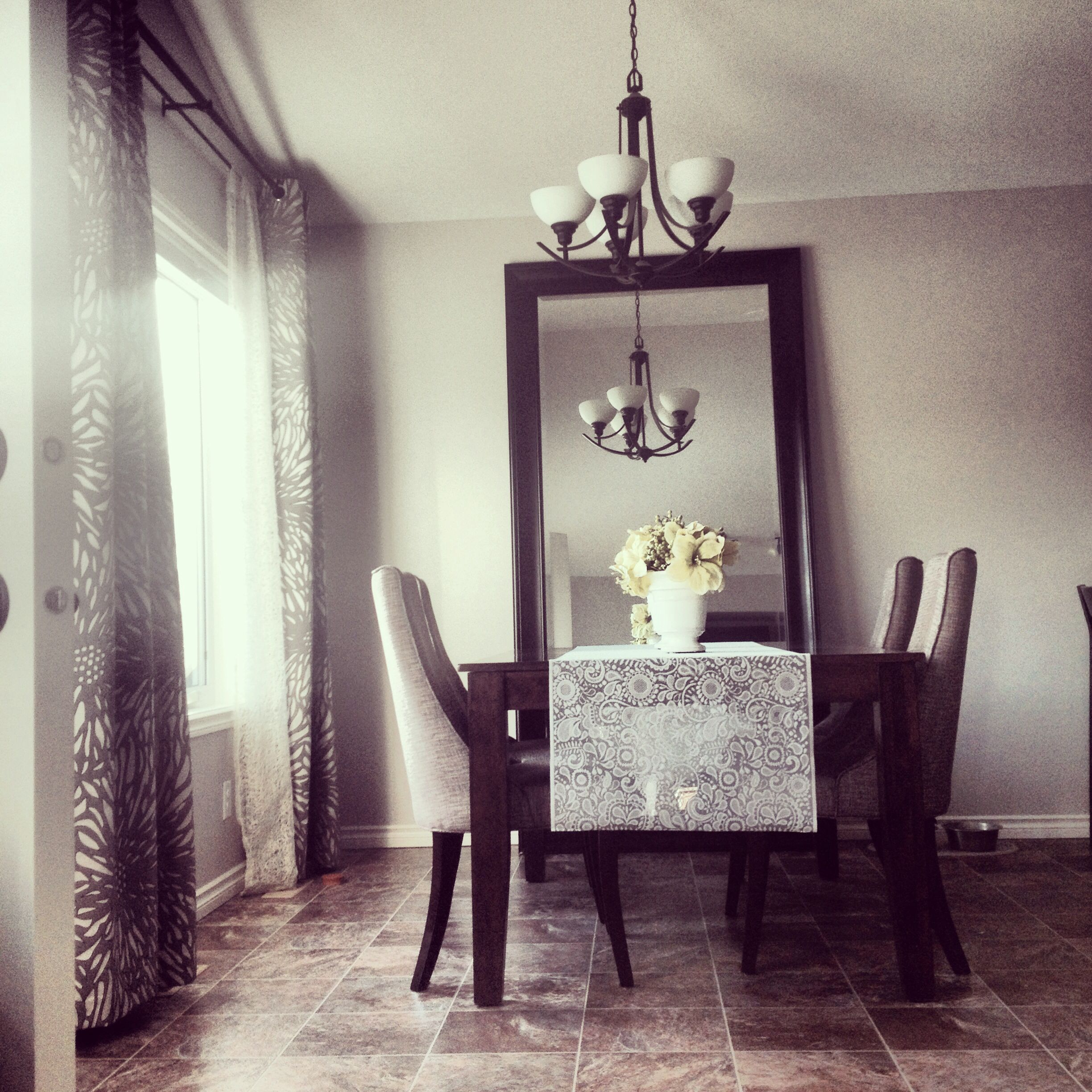 My Dining Room The Chairs Are Tulip From Urban Barn So Comfortable