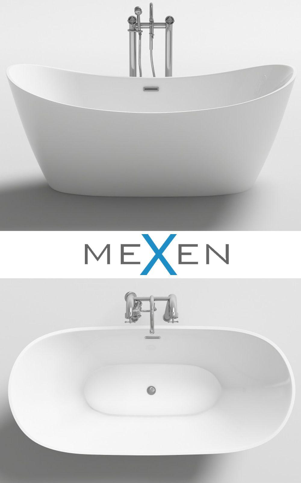 Idealna Do Kazdej Stylowej Lazienki Mexen Montana Wanna Wolnostojaca Biala In 2020 Bathtub Bathroom