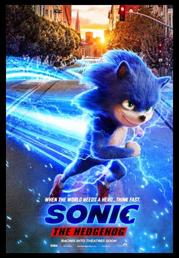 Sonic The Hedgehog 2019 Movie Silk Poster 24 X 14 Inch Kunstplakate