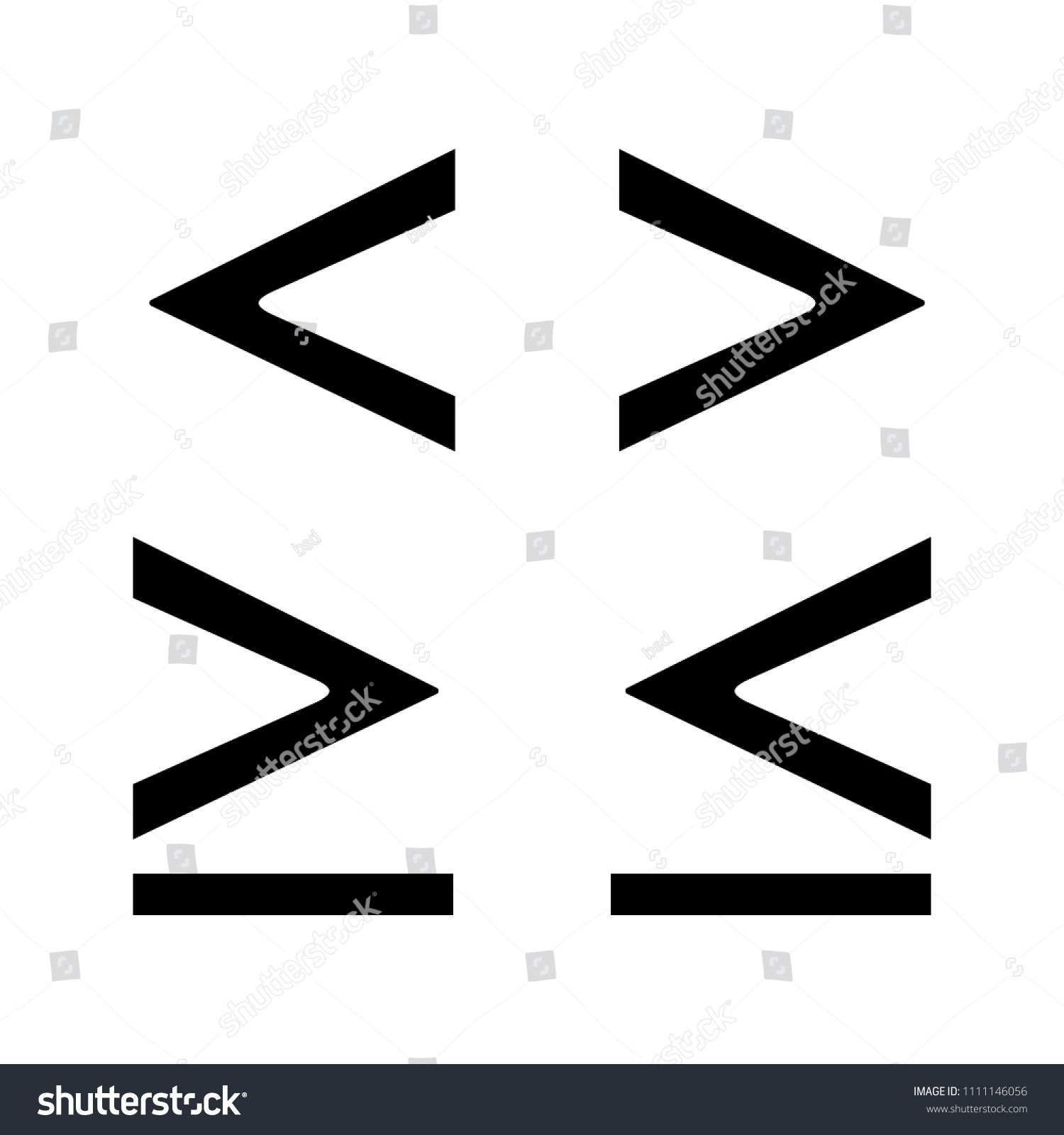 Math Symbols Glyph Icon Is Less Greater Or Equal Than Signs Silhouette Symbol Negative Space Vector Isolated Illustration Spons Glyph Icon Glyphs Symbols