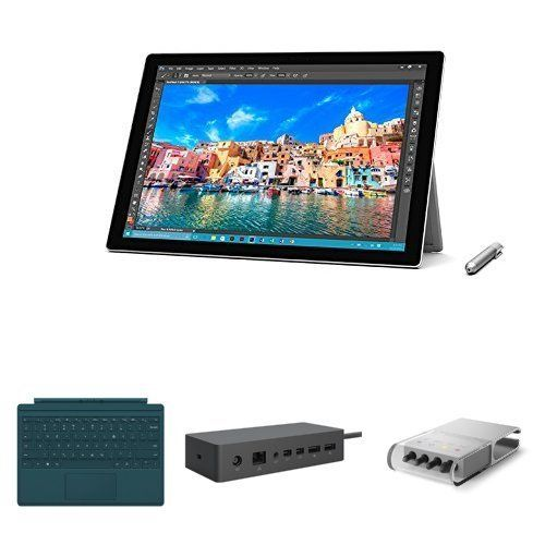 Microsoft Surface Pro 4 12.3 Inch Tablet With Pen (intel Core I5-6300u 2.2 Ghz. 4 Gb Ram. 128 Gb Ssd. Integrated Graphics. Windows 10 Pro) And ...