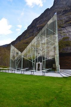 Trollwall Restaurant by Reiulf Ramstad Architects in Trollveggen, Møre og Romsdal, Norway