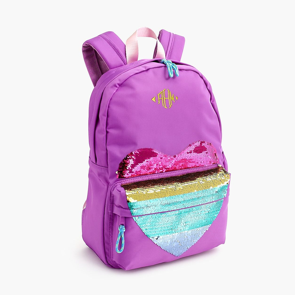 fb3164e38 crewcuts Backpack With Reversible-Sequin Heart | Products | Girl ...