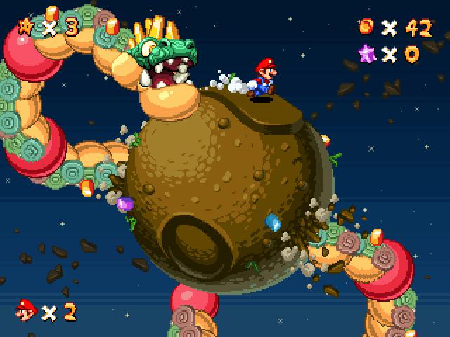 Pixel #Demake Run Mario Run via #JunkBoy ( Mario Galaxy 2