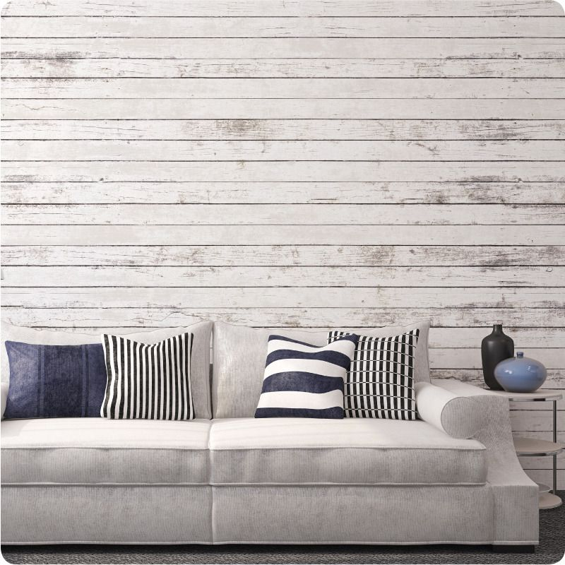6 Reasons to Consider Wall Decals White wood paneling