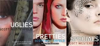 """On my list- Pinner says- Dear Friends,  If you enjoy reading books about teen rebelion against corupt governments then these books are perfect for you! The uglies trilogy takes place in the futre in a place where at the age of 16 eveyone goes through a surgry that """"fixes"""" your physical flaws but is that all they """"fix"""" when the doctors make you into a pretty? These books are so well written and the story line is amazing! you should really consider reading these books.    Love always Cate"""