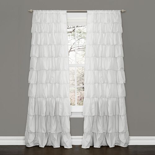 Lush Decor 1 Pack Ruffle Window Curtain 50 X 84 Ruffle