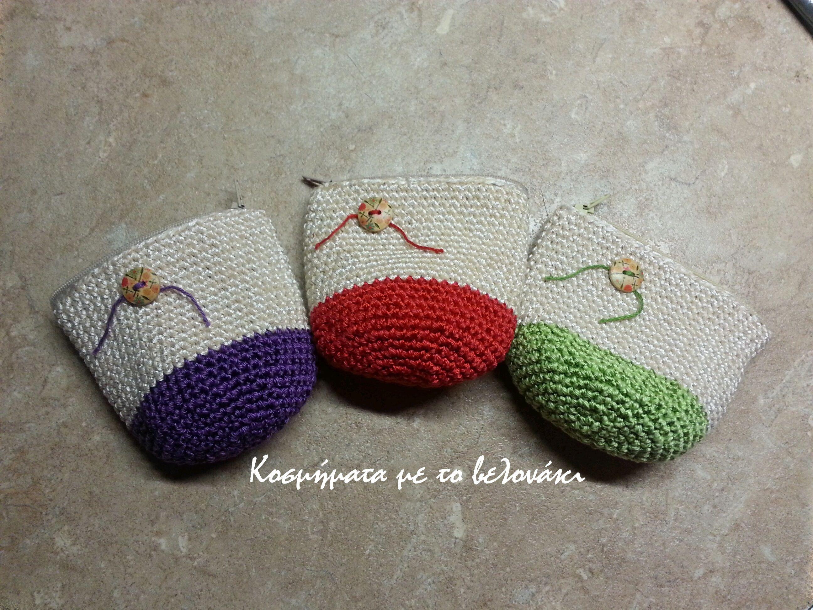 crochet colorful little wallets!