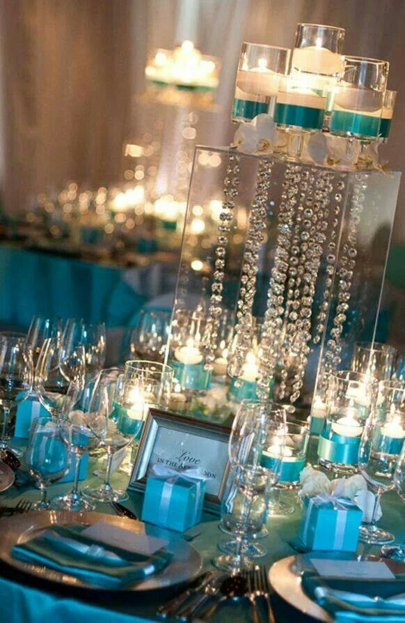 Beautiful Tiffany Centerpiece With Hanging Crystals