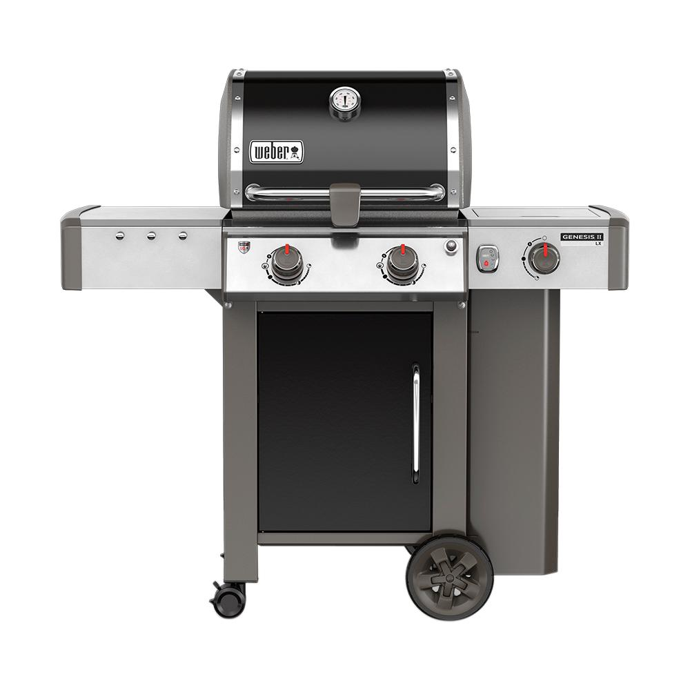 Weber Genesis Ii Lx E 240 2 Burner Propane Gas Grill In Black With Built In Thermometer And Grill Light 60014001 The Home Depot Natural Gas Grill Weber Gas Grills Gas Bbq