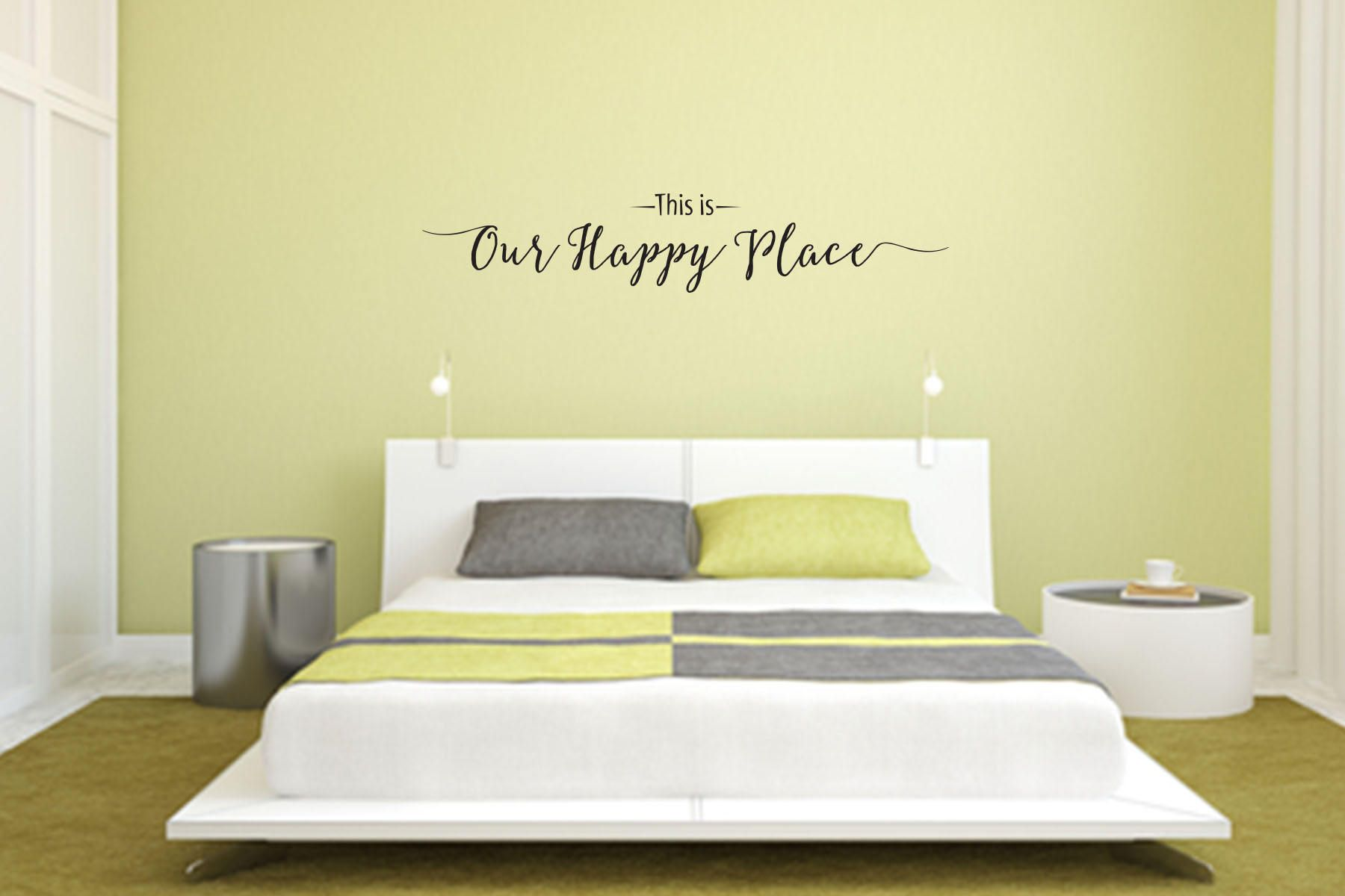 This is Our Happy Place Wall Decal - Great For Home, Bedroom Or ...