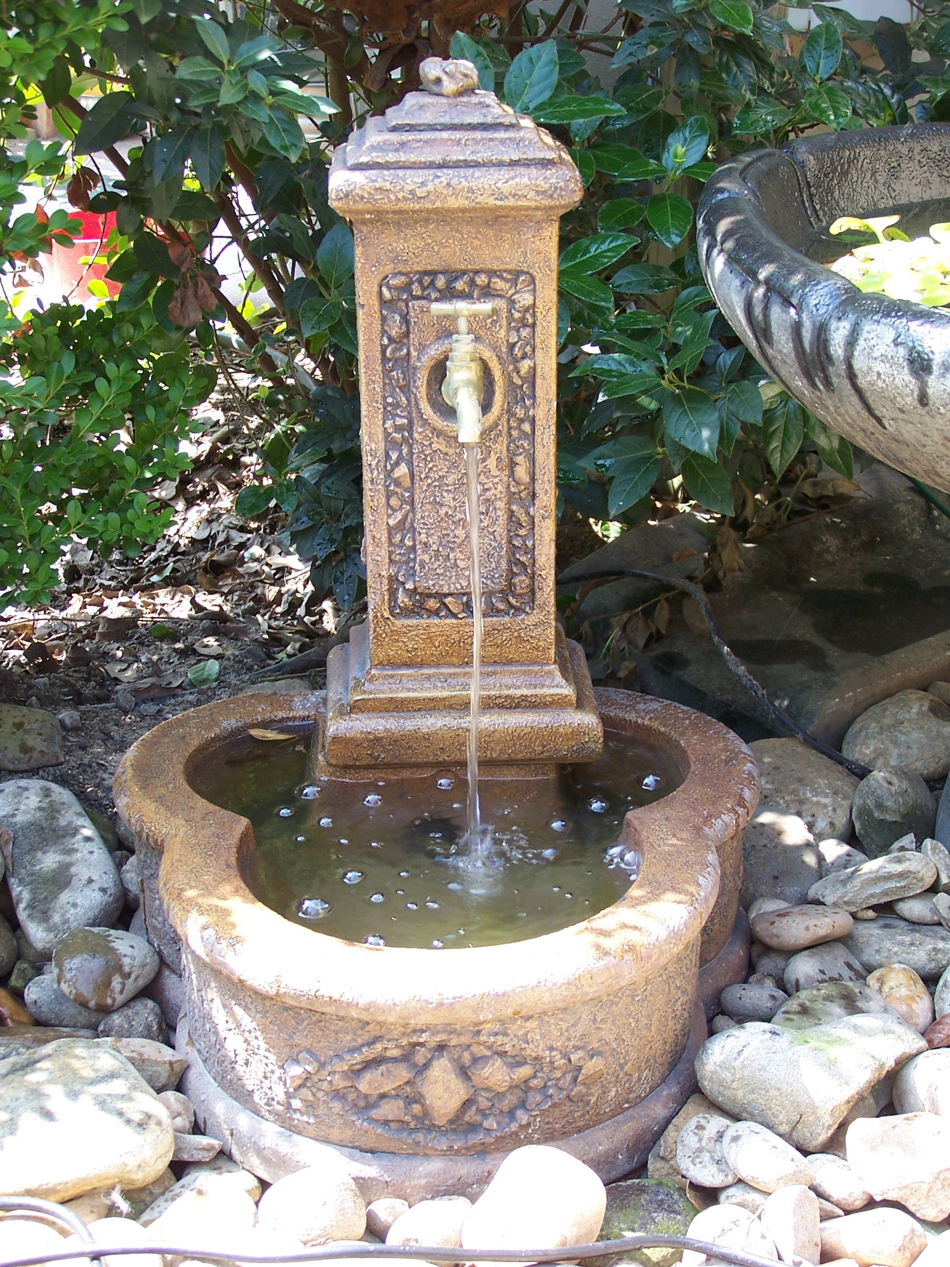 Faucet Fountain   Vista garden, Fountain, Outdoor decor