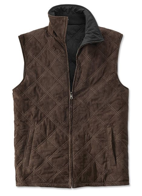 Just found this Mens Reversible Suede Leather Vest - Suede Leather Reversible Vest -- Orvis on Orvis.com!