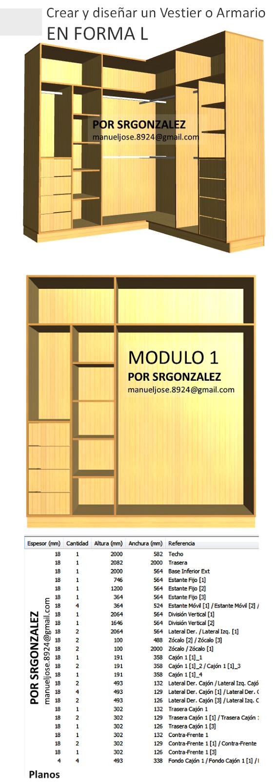 Dise os de muebles armarios cocinas bibliotecas etc for Programa para disenar muebles de madera