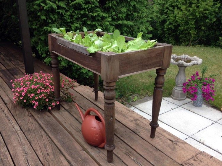 Building A Small Raised Bed Perfect For Balcony And Terrace Decor Ideas For You 2018 Gartenbeet Hochbeet Erhohte Beete
