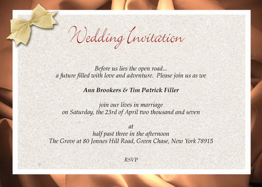 Wedding Invitation Wording Examples - - Yahoo Image Search Results ...