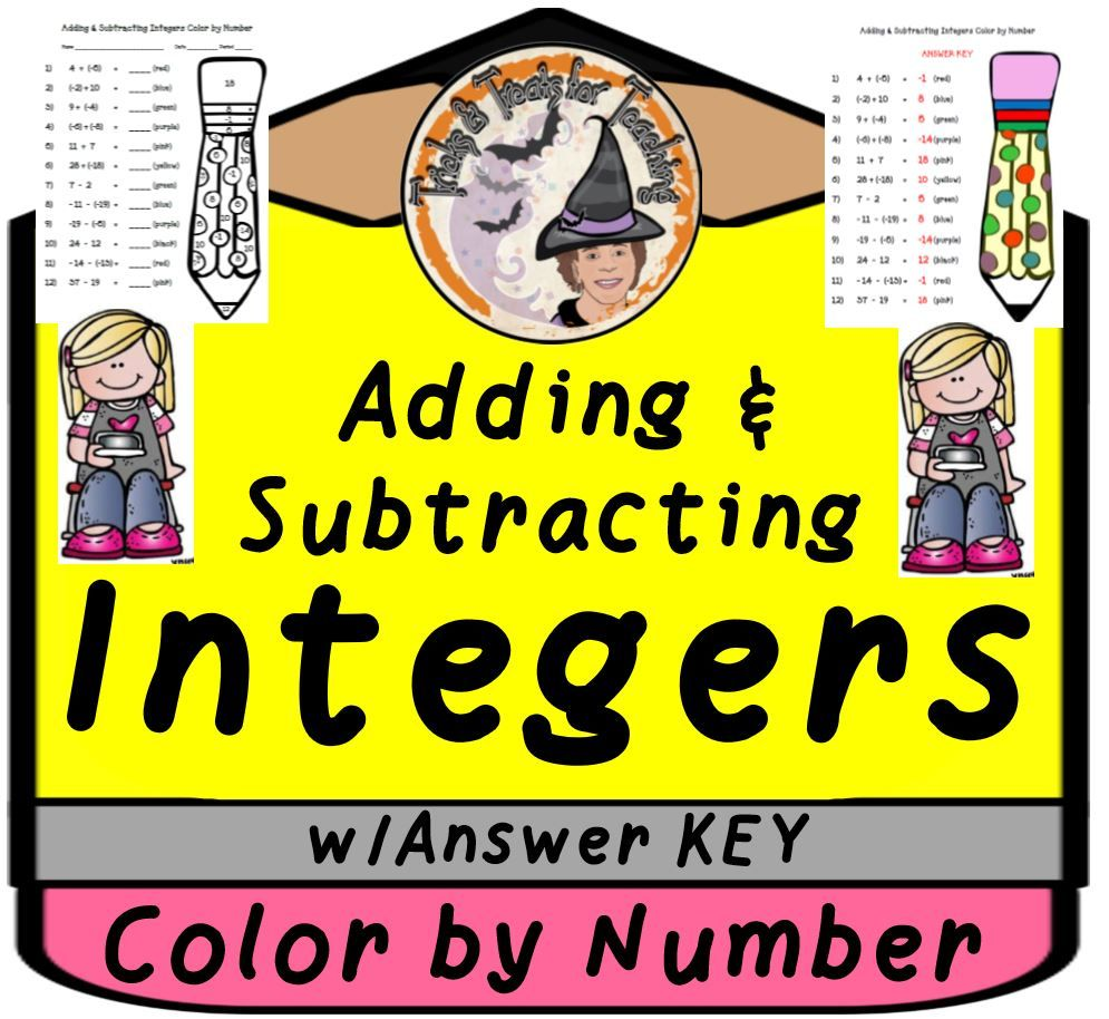 Adding And Subtracting Integers Color By Number Answer Key Digital Adding And Subtracting Integers Adding And Subtracting Subtracting Integers