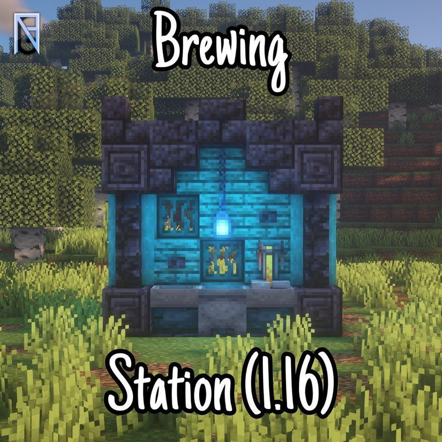 Minecraft Builder Nrgmix On Instagram Brewing Station With 1 16 Blocks Follow Nrgbuilds For Minecraft Houses Minecraft Blueprints Minecraft Decorations