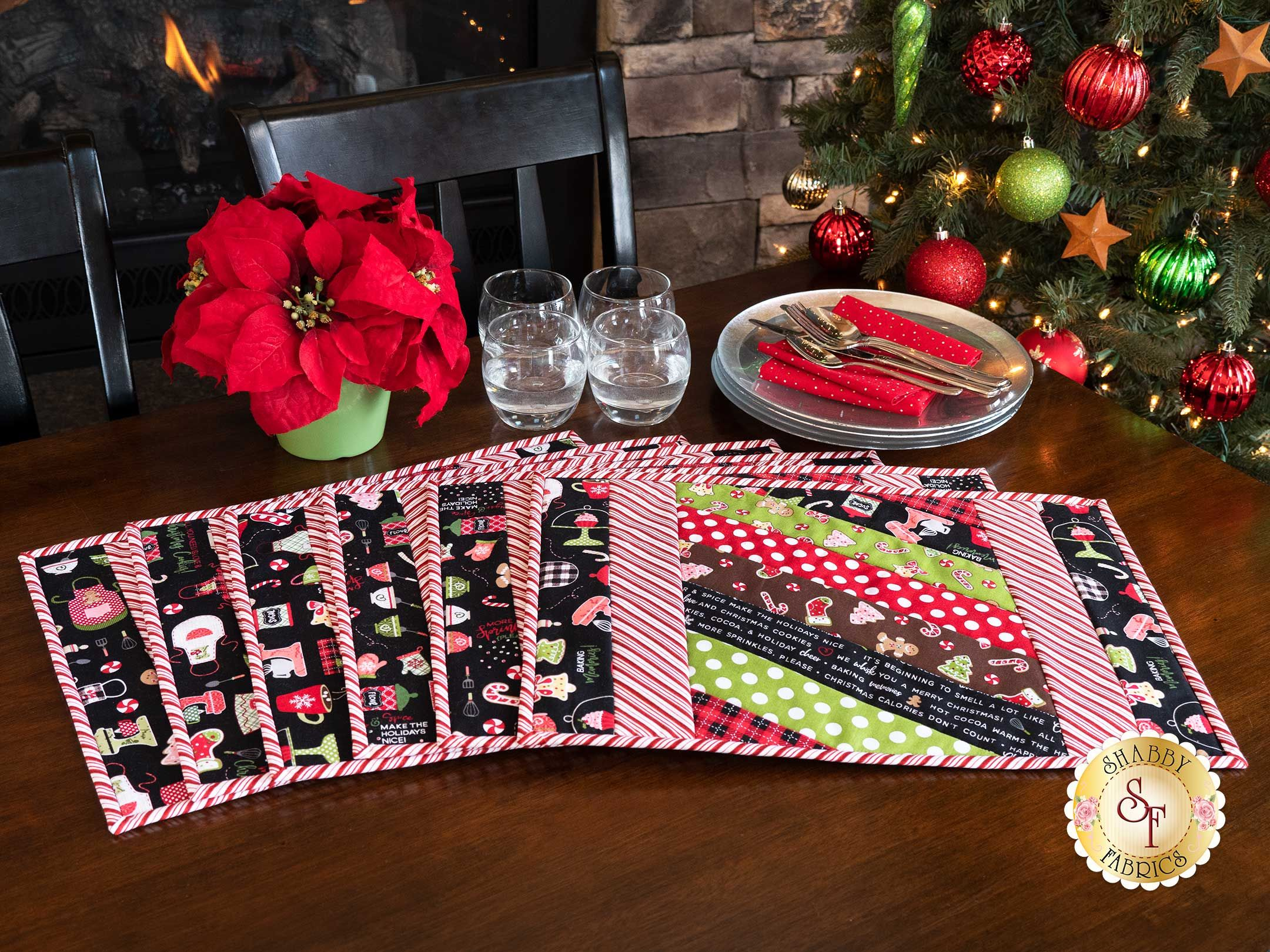 Quilt As You Go Jakarta Placemats Kit We Whisk You A Merry Christmas In 2020 Christmas Placemats Placemats Quilt As You Go