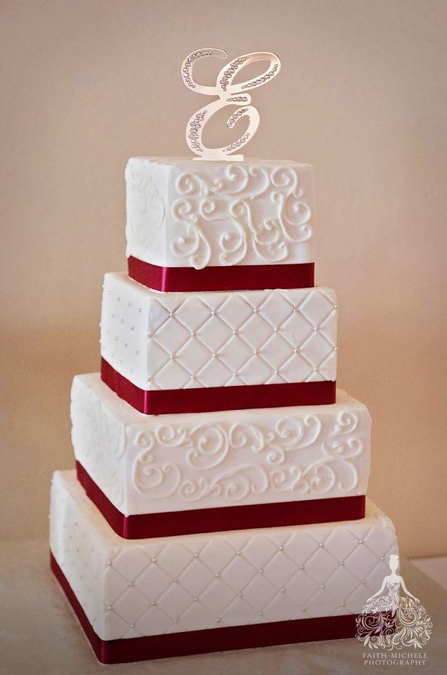 Red And White Rhinestone Glitter Wedding Cake Wilson Creek Winery Temecula Venue Los