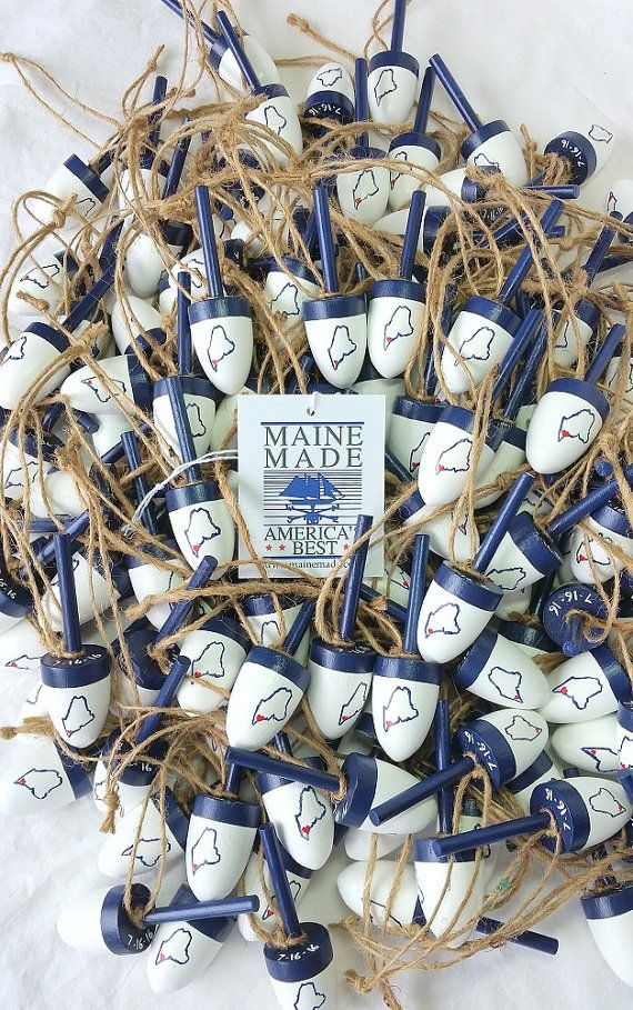 Lobster Buoy Wedding Favors Maine Nautical Coastal Maine Wedding Custom Order Maine Wedding Favors Maine Wedding Decor Maine Wedding