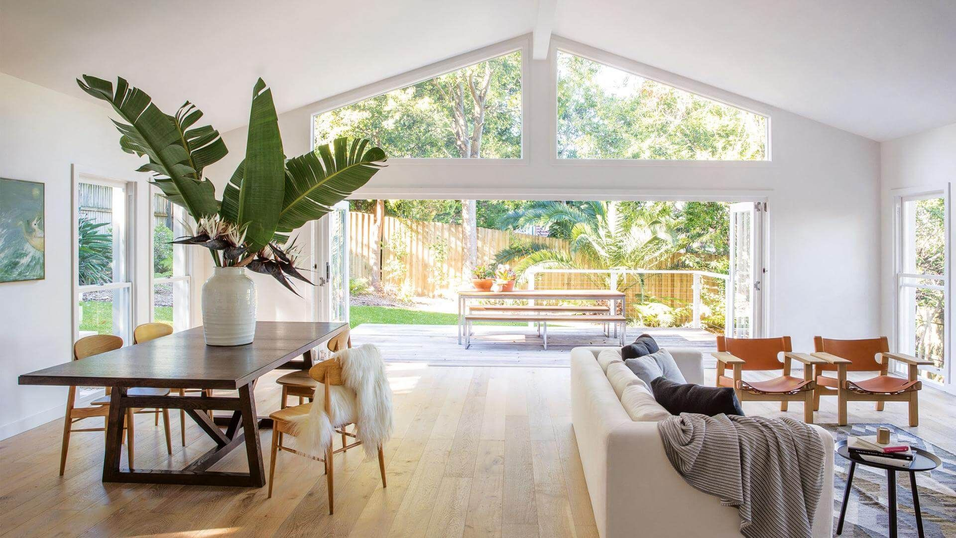 Beautiful Blended Outdoor Indoor Living Space Design Ideas House