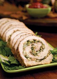 Stuffed pork loin with spinach, bacon, and garlic - unbelievably delicious!