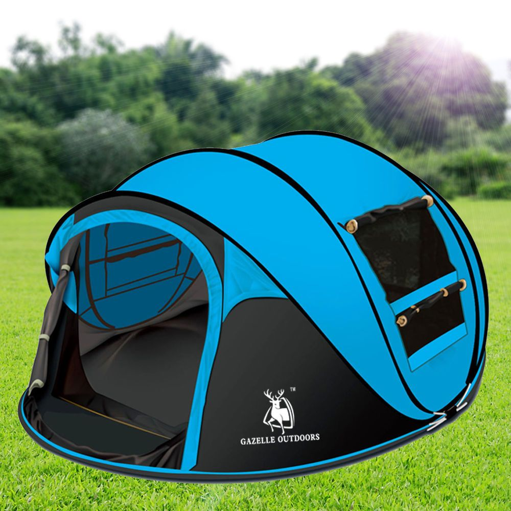 Gazelle Outdoors C&ing Large Instant Pop Up Tent - Double Doors Two Windows #GazelleOutdoors # & Outdoor Camping Hiking Large Instant Pop Up Tent - Double Doors ...