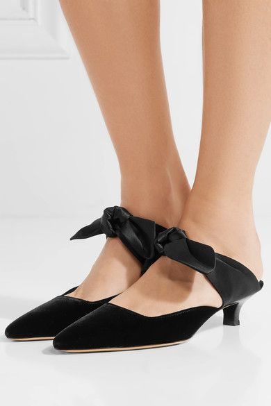 44ced45cc4c1 The Row - Coco Velvet And Satin Mules - Black