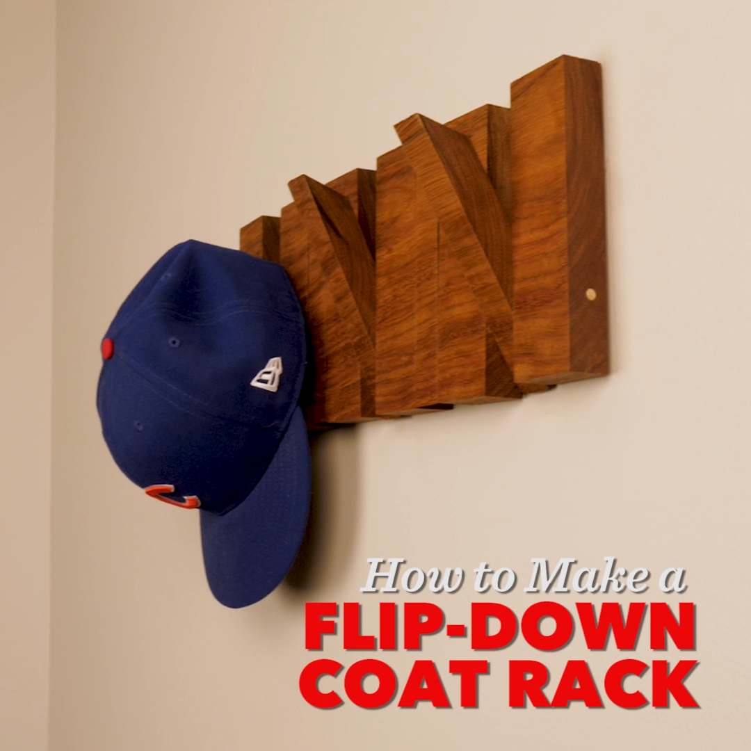 How to Make a Flip-Down Wall-Mounted Coat Rack