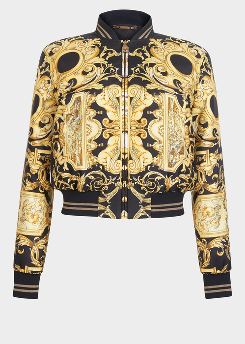8f2d99c79ef Versace Silk Barocco Bomber Jacket for Women | US Online Store. Silk  Barocco Bomber Jacket from Versace Women's Collection. A Barocco print  bomber with a ...