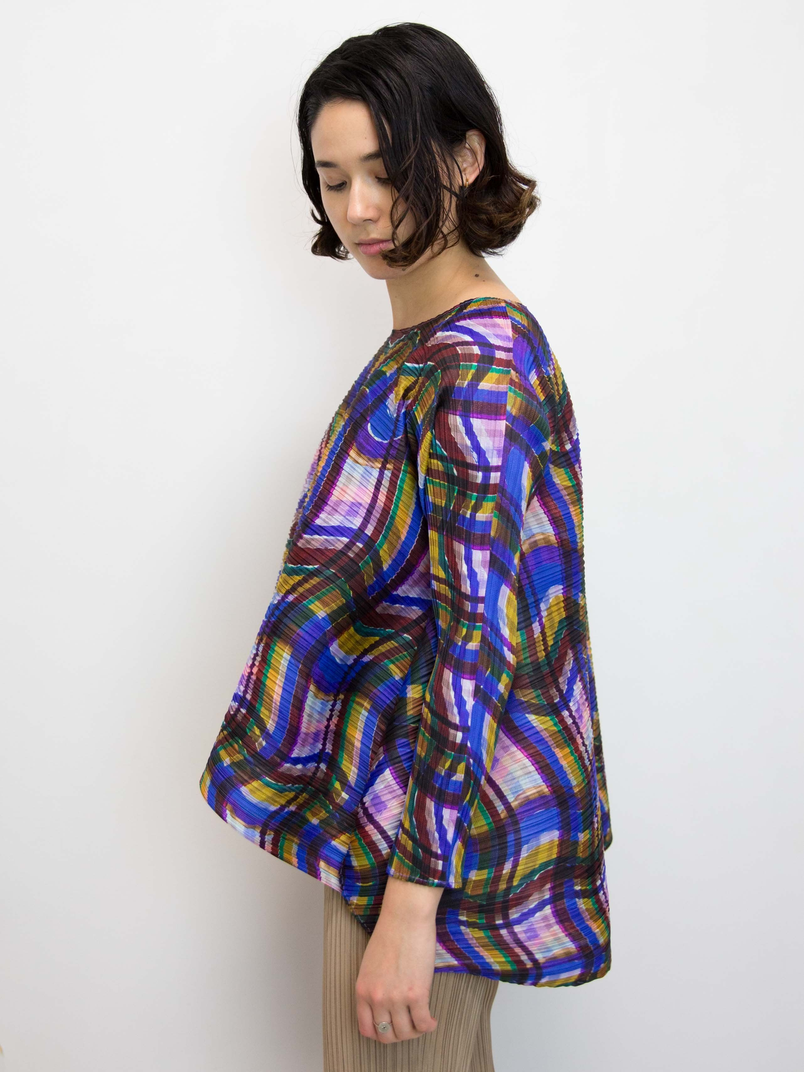 7d25386af992 PLEATS PLEASE ISSEY MIYAKE Stratum Check Top
