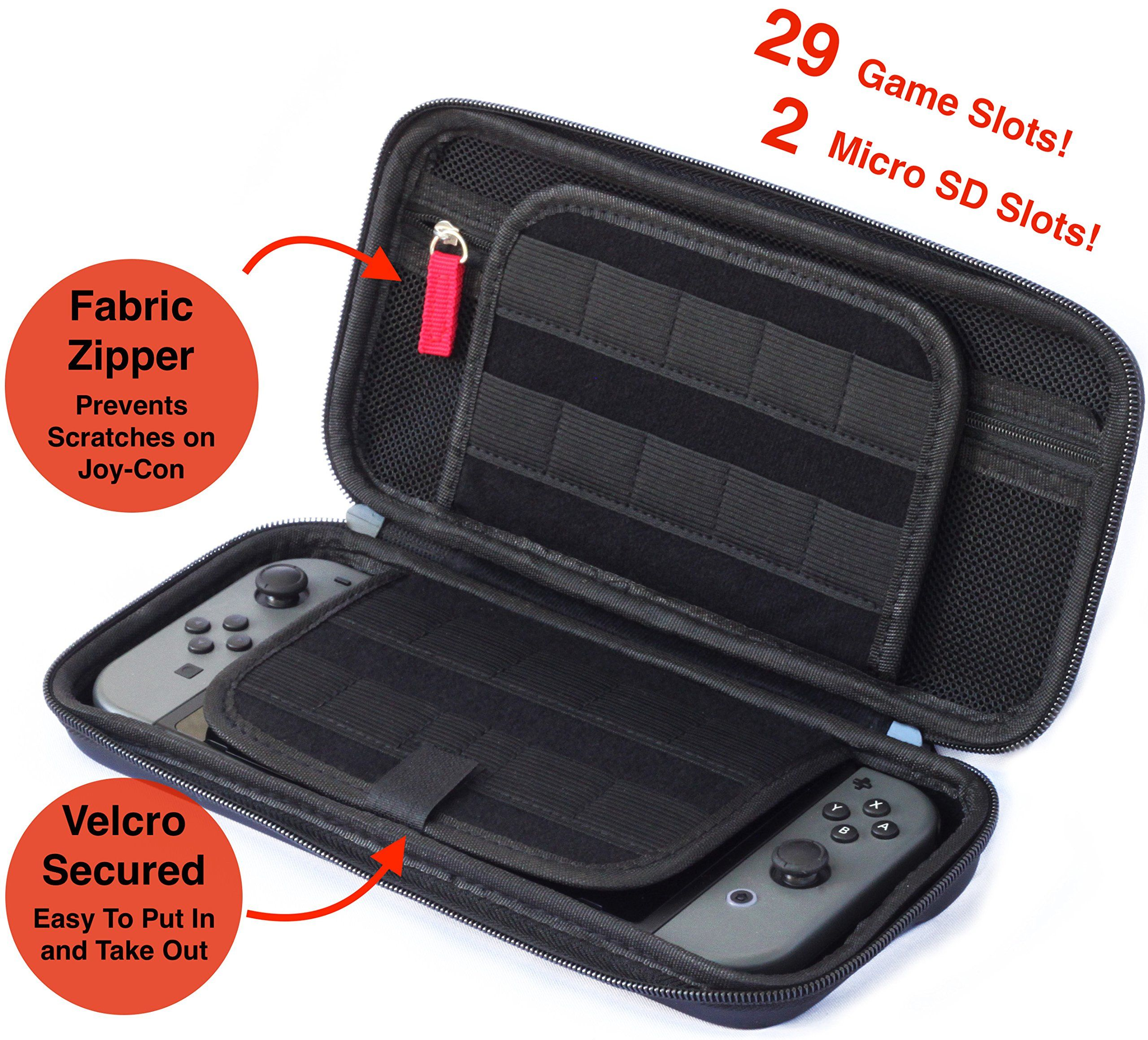 Nintendo Switch Accessories Case 29 Video Cartridges And 2 Micro Sd Card Holders Protective Hard
