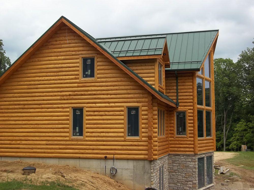 4x10 Cedar Fatboy Siding With Saddle Notch Corners With 4x6 Cedar D Trim Siding House Styles Woodhaven