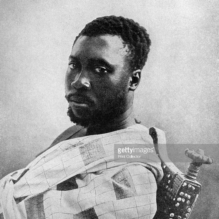 The Asantehene Nana Prempeh I (d.1931) king of the Asante ...