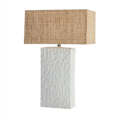 Windsor Smith For Arteriors Home Designed The Imana Table Lamp Featuring Slight Sculptural Relief Tall Table Lamps Table Lamp Lighting Arteriors Home