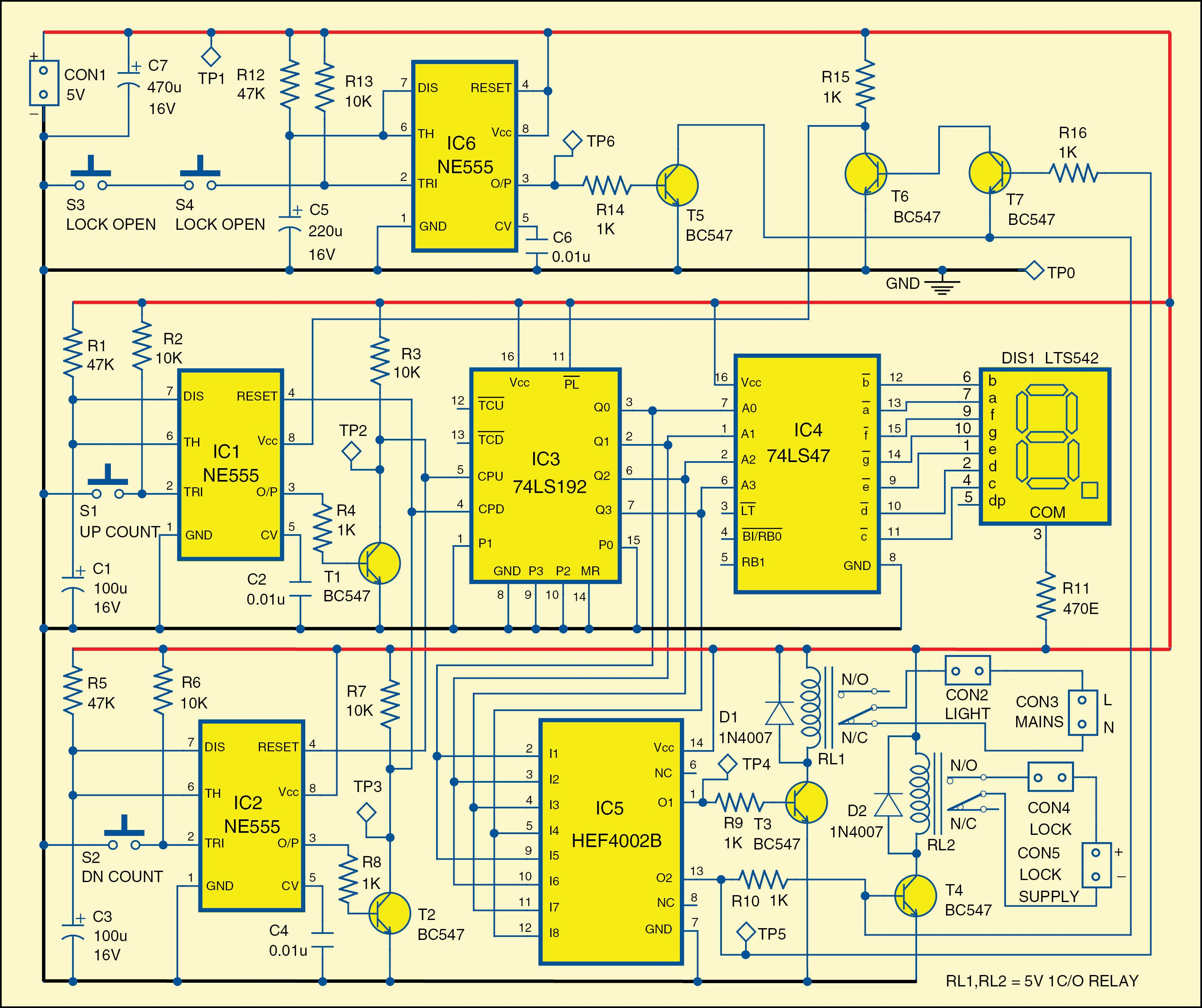 Automatic Room Lock And Lights Circuit Electronics Pinterest Diagrams In Science Photos
