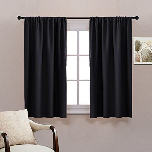 Bedroom Blackout Curtains Set Pony Dance Energy Efficie With