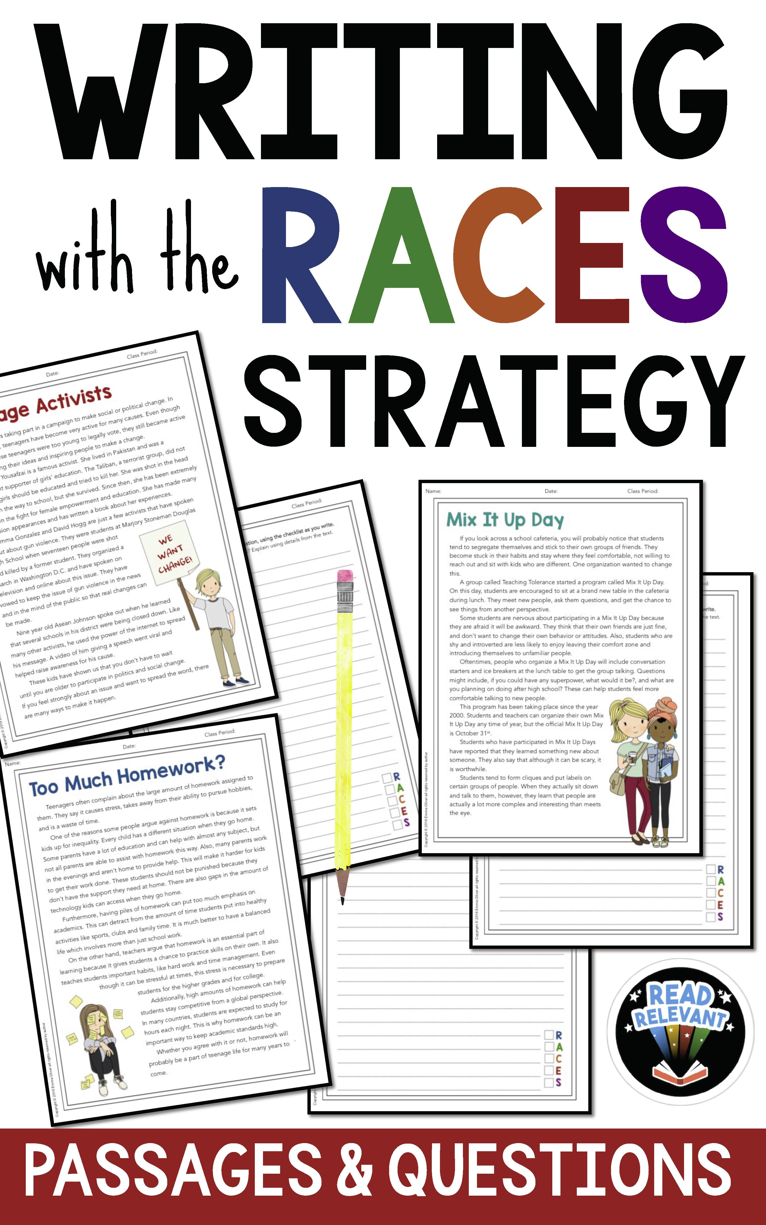 Teach Kids To Write Constructed Responses Using The Races Strategy These Passages And Questions Are Gre Teaching Writing Writing Lessons Middle School Writing [ 4800 x 3000 Pixel ]