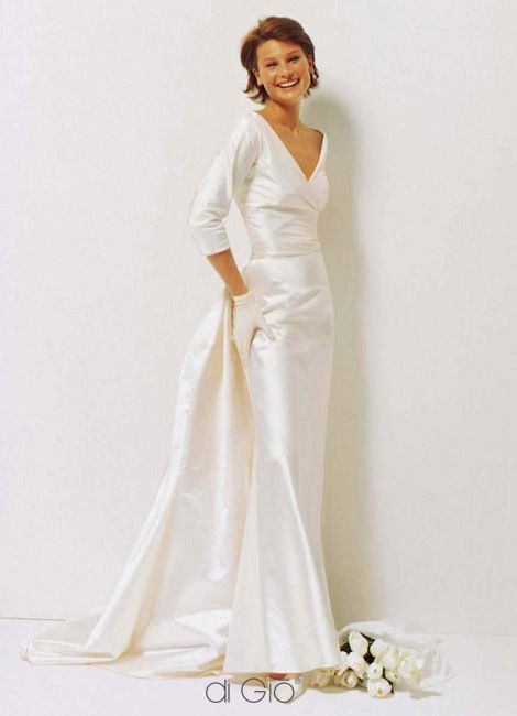 Wedding Dresses For Women Over 50 Extra Train Or Wver You