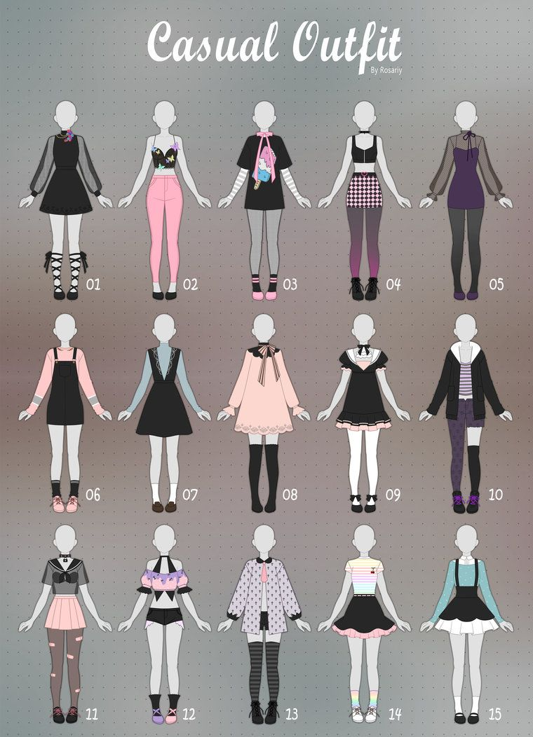 Casual Cool Anime Girl Outfits   Novocom.top