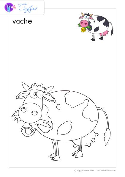 Animaux Ferme Dessin A Colorier Vache Coloriage Coloriage