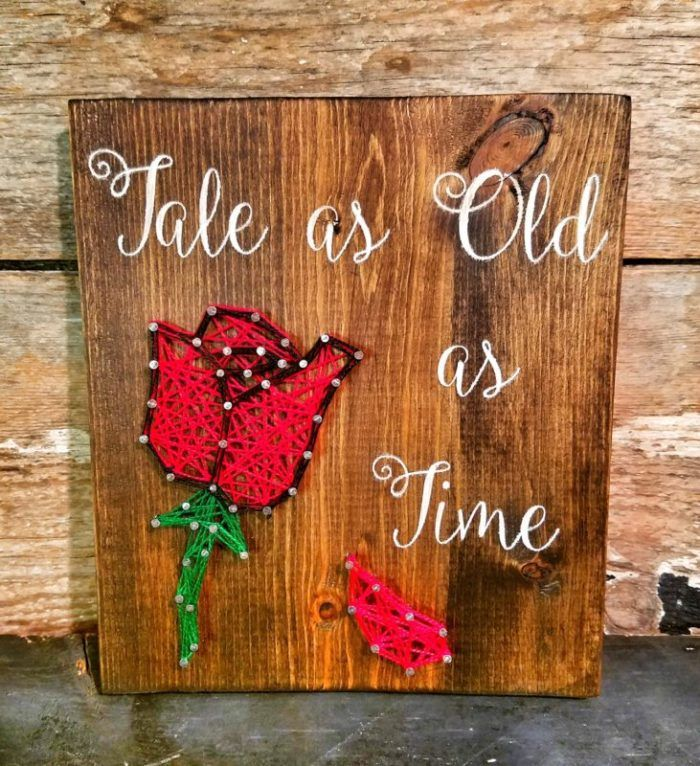 Beauty and the Beast String Art Rose Project 4 | beauty | Pinterest ...