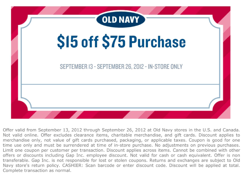 Old Navy Deal With Images Old Navy Coupon