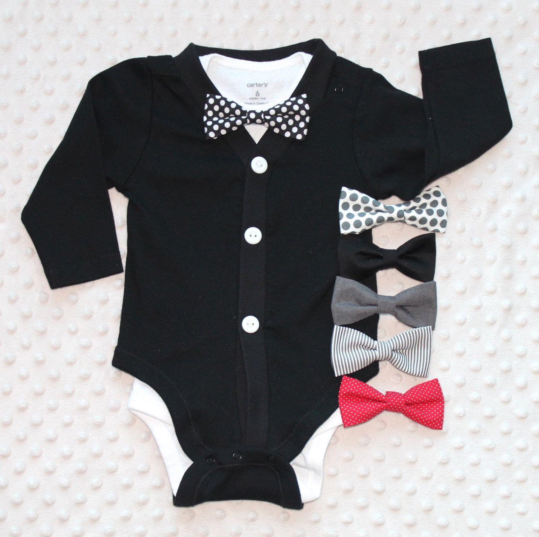 Infant Gentleman Long Sleeve Formal Romper Jumpsuit Wedding Party Outfits SOBOWO Baby Boys Dress Shirt Bodysuit