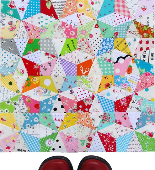 Red Pepper Quilts: Kaleidoscope Block and Free Foundation Paper ... : redpepper quilts - Adamdwight.com
