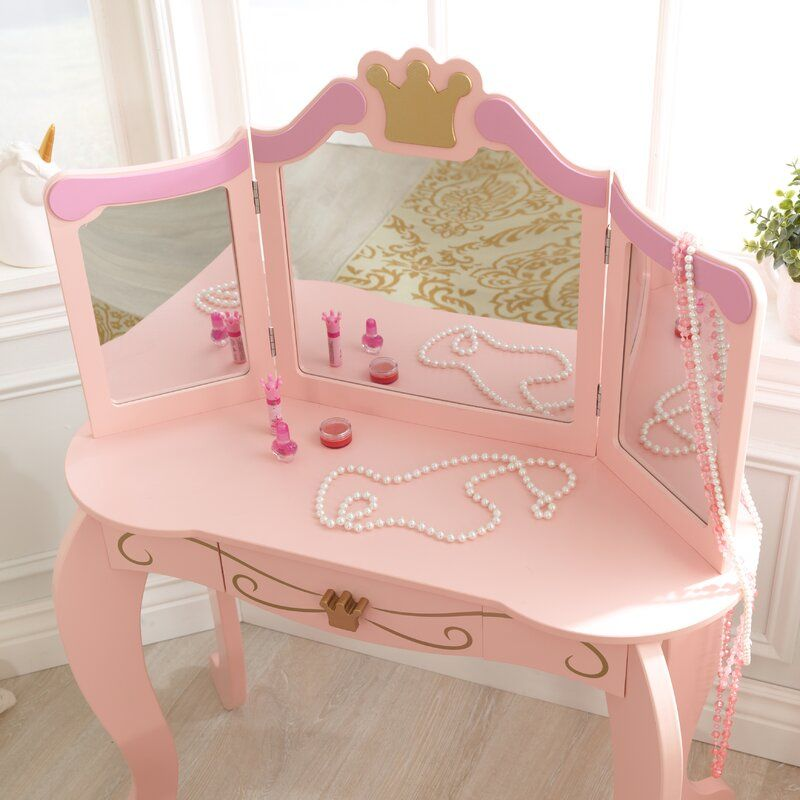 Princess Vanity Set With Mirror Disney Princess Room Girls Princess Room Girls Princess Bedroom