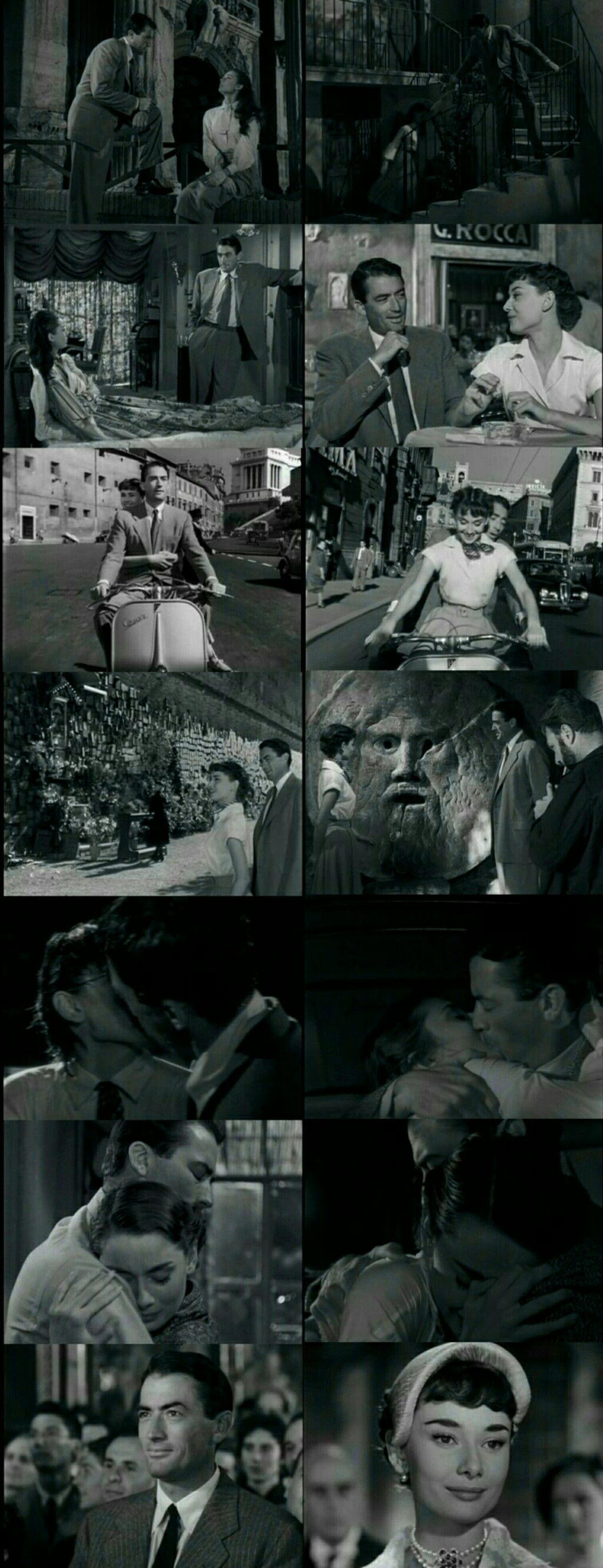 Roman Holiday (1953) Directed by William Wyler. Starring Audrey Hepburn and Gregory Peck in leading roles. #williamwyler