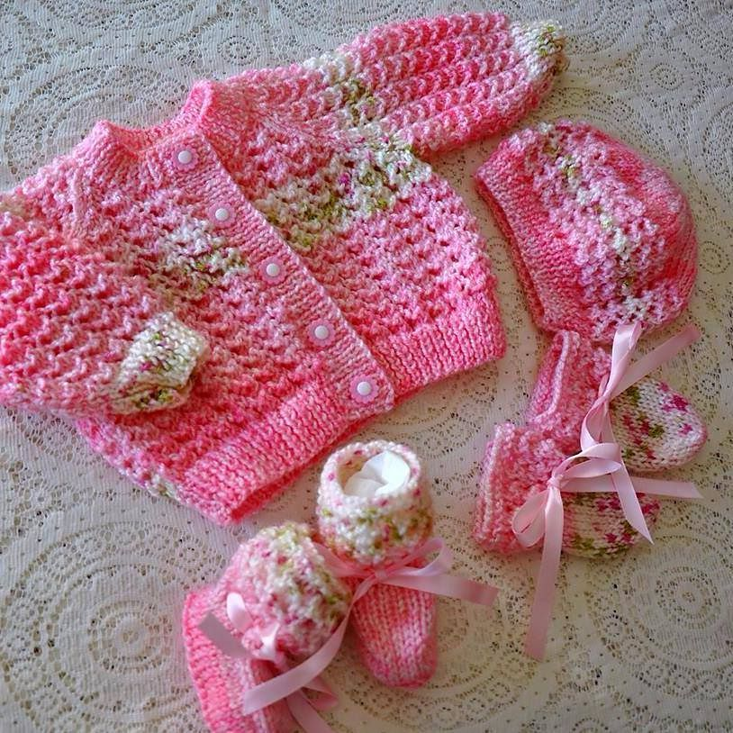 Ravelry Lacey Baby Cardigan Pattern By Karena Conran Knitting